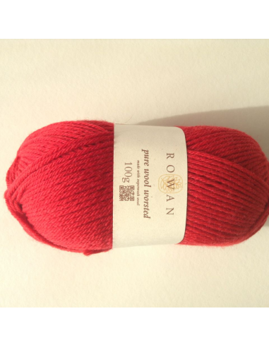 Pure wool worsted, rood